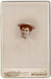 Carte de visite of Willa Cather